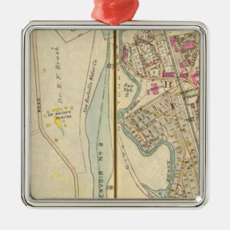 7475 East Chester, Bronxville Silver-Colored Square Ornament