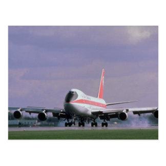 747 lands at Pearson International Airport, Toront Postcard