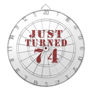 74 Just Turned Birthday Dart Boards