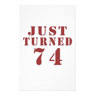 74 Just Turned Birthday Stationery