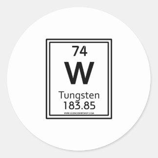 74 Tungsten Classic Round Sticker