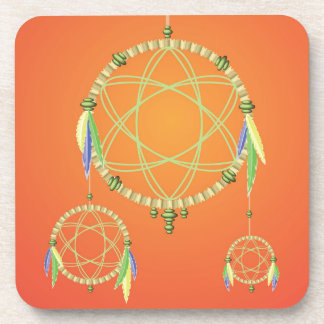 74Dream Catcher_rasterized Coaster