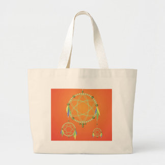 74Dream Catcher_rasterized Large Tote Bag