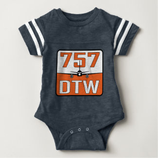 757 DTW Baby Snap-Close T-Shirt