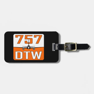 757 DTW Luggage Tag