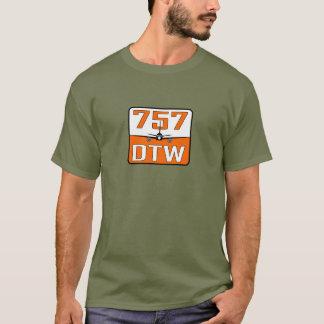 757 DTW Men's Sage Green Cotton T-Shirt
