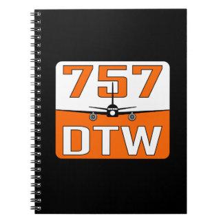 757 DTW Spiral Bound Notebook