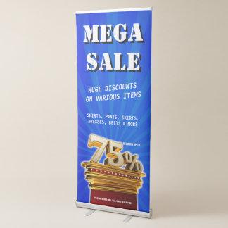 75 Percent Discount Mega Sale Banner