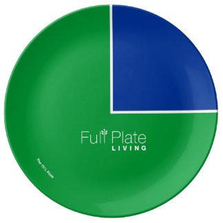 "75% Plate - Porcelain 10"""