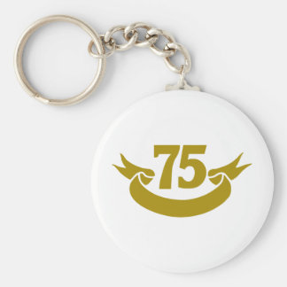 75-real-tape basic round button keychain