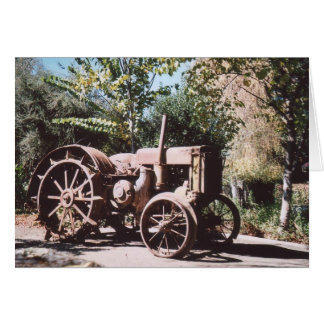 75. Rusty Tractor, California Card