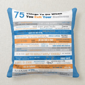 75 Things to Do Throw Pillow