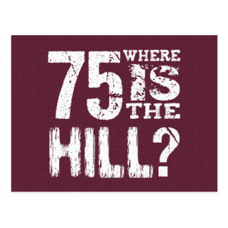 75 Where Is The Hill Funny 75th Birthday BU75 Postcards