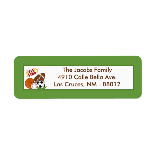 ".75""x2.25"" Return Address Label All-Star Green"