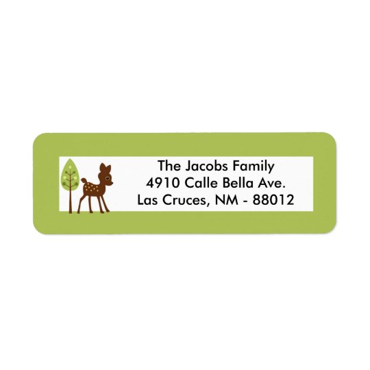 ".75""x2.25"" Return Address Label Woodland Friends"