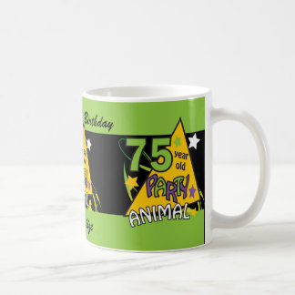 75 Year Old Party Animal Classic White Coffee Mug