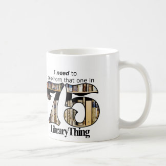 75ers Library Thing mug