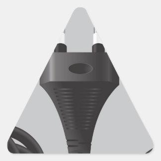 75Power Plug_rasterized Triangle Sticker
