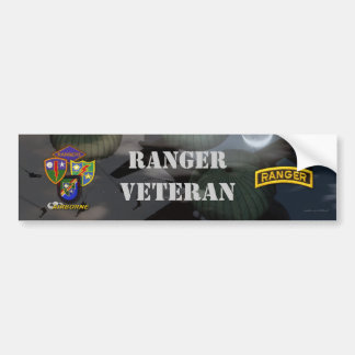 75th army airborne ranger veterans bumper sticker