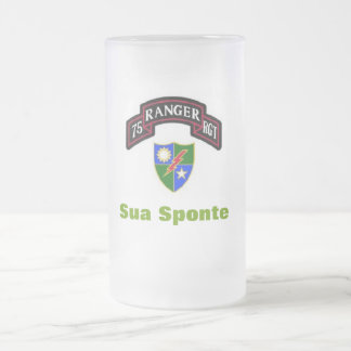 75th Army Ranger Frosted Beer Stein Frosted Glass Mug