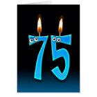 75th Birthday Candles Card