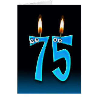 75th Birthday Candles Card