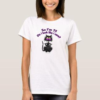 75th Birthday Cat T-Shirt