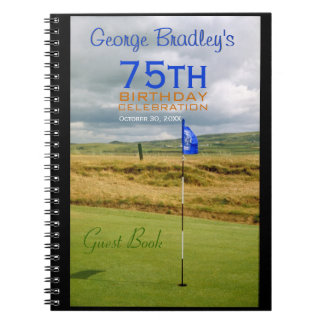75th Birthday Celebration Golf Guest Book