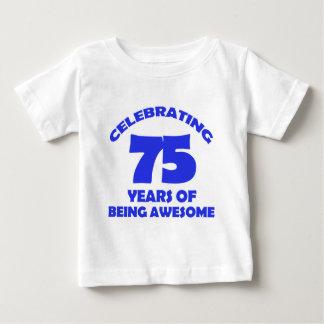 75th birthday  designs baby T-Shirt