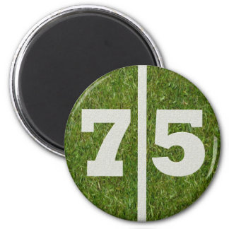 75th Birthday Football Yard Magnet