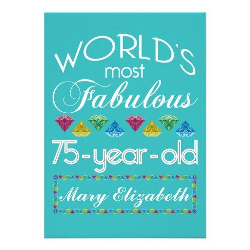75th birthday invites  2 000 75th birthday invitation