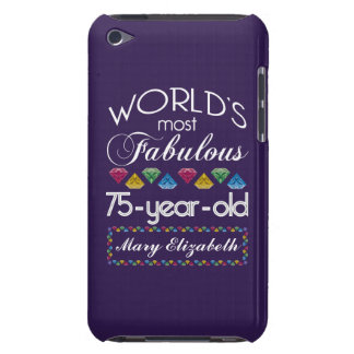 75th Birthday Most Fabulous Colorful Gems Purple iPod Touch Cases