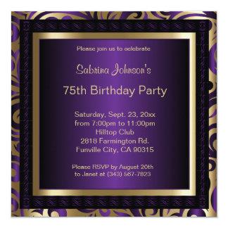 75th Birthday Invitations Amp Announcements Zazzle Canada