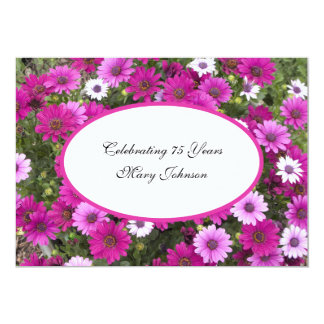 75th Birthday Party Invitation Gorgeous Floral