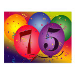 75th birthday party invitation post cards