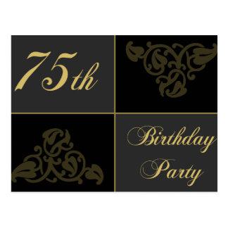 75th Birthday Party supplies Postcard
