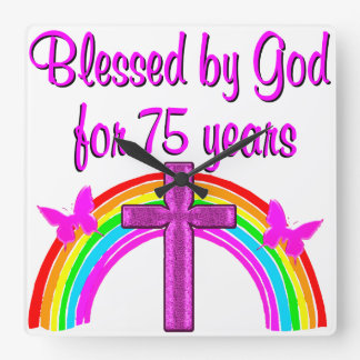 75TH BIRTHDAY PRAYER PERSONALIZED DESIGN WALL CLOCK