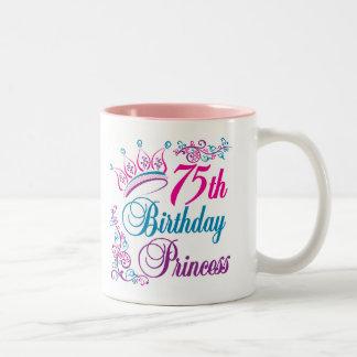 75th Birthday Princess Coffee Mugs