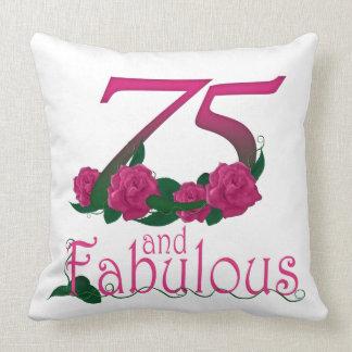 "75th birthday Throw Pillow 20"" x 20"""