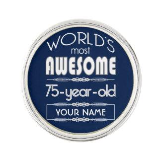 75th Birthday Worlds Best Fabulous Dark Blue