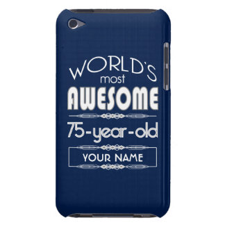 75th Birthday Worlds Best Fabulous Dark Blue Barely There iPod Case