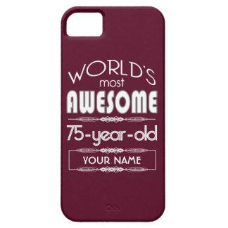 75th Birthday Worlds Best Fabulous Dark Red iPhone 5 Covers