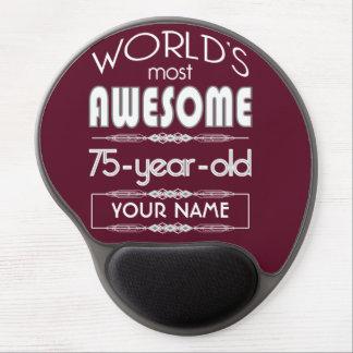 75th Birthday Worlds Best Fabulous Dark Red Gel Mouse Mat