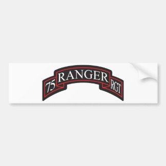 75th Ranger Regiment Scroll Bumper Sticker
