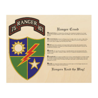 75th Ranger Regiment Wood Wall Art Wood Canvases