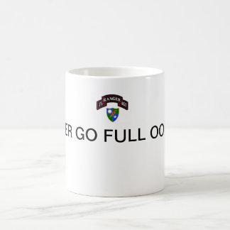 75th Rangers, NEVER GO FULL OORAH! Basic White Mug