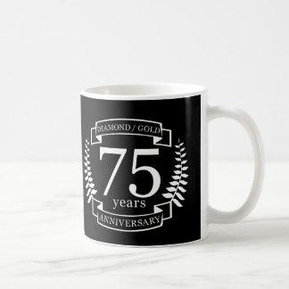 75th Wedding ANNIVERSARY DIAMOND GOLD Coffee Mug