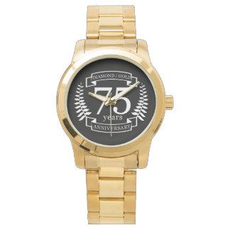 75th Wedding ANNIVERSARY DIAMOND GOLD Watch