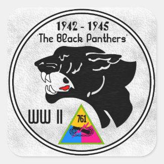 761st TANK BATTALION, BLACK PANTHERS, WW II Square Sticker