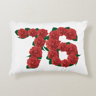 76  76th birthday anniversary number accent pillow